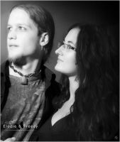Portrait Elodie et Freddy by cendredelune