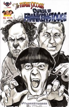 Three Stooges Sketch Cover Commission by timshinn73