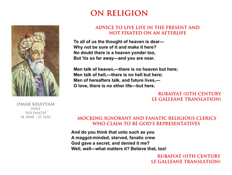 Omar Khayyam - on religion by YamaLama1986