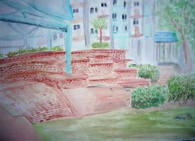outdoor painting by mortichro
