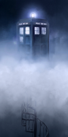 TARDIS in the Clouds by LuoLanJP