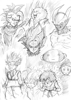Some Dragon Ball sketches by BL-Sama
