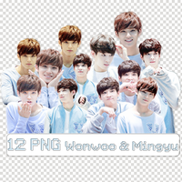 [12 PNG + Photo] Wonwoo  Mingyu by BHottest