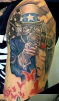 Uncle Sam tattoo by catbones