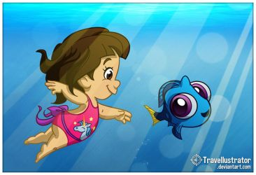 Lola and Dory by travellustrator