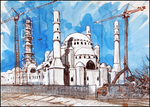 THE CONSTRUCTION OF THE MOSQUE IN SIMFEROPOL by Badusev