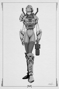 DOODLES - Female Robot by VR-Robotica