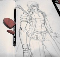 Dante sketch by Guard-of-Minasteris