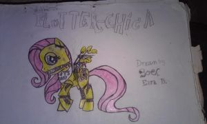 Withered Flutter- Chica by TerranTitanium