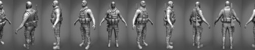 Soldier High Poly Render by Krovash