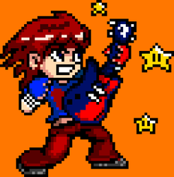 My Scott Pilgrim Guitar Sprite by supergrat
