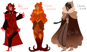 .:Halloween Themed Diamond Adopts:. {CLOSED} by Booty-Peach-Adopts