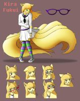Reference Sheet: Kira Fukui by A-Fox-Of-Fiction