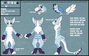Frosty Dutch Angel Dragon Reference Sheet by floofytail