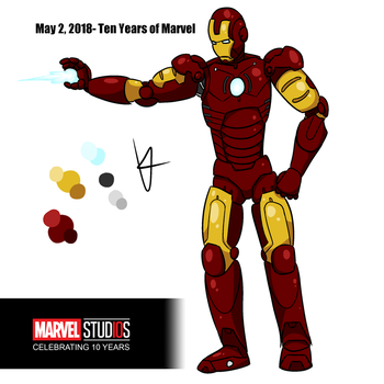 Iron Man 10th Anniversary by knux400