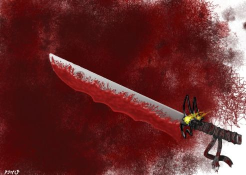 bloody sword by PsicoDelice