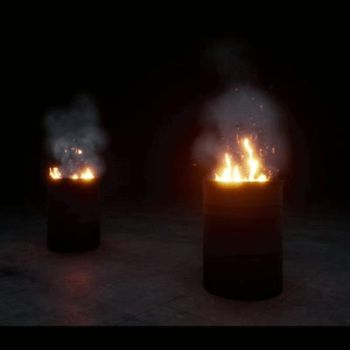 Fire Barrels by antovfx