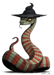 Sneaky snake witch (colored version) by IsidorSwande
