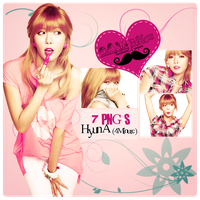 Pack PNG HyunA (4Minute) by GAJMEditions