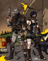 Erron Black and Dullahan Geared For The Apocalypse by Kaywest