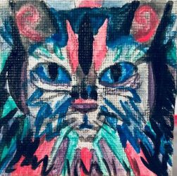 Abstract Cat by AmyNoelly