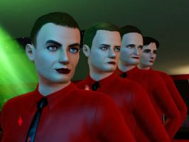 Kraftwerk in Sims 3 by mechpuppe82