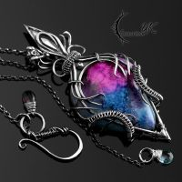 GALAXY OF ETINIURS - silver and druzy agate by LUNARIEEN