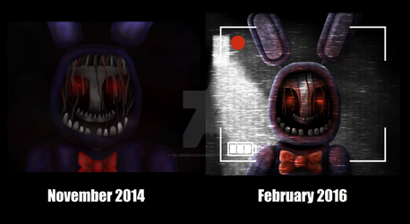 Withered Bonnie November 2014 vs February 2016 by SilverBronzong