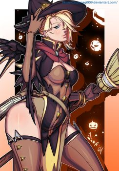 Mercy - Halloween Skin by KUZANAGI009