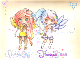 Winged friends by mochatchi