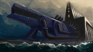 The Leviathan Cannon by Nyte-Tyme
