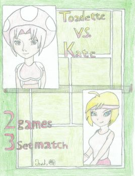 Mario Tennis: Toadette vs Kate by YoungJash