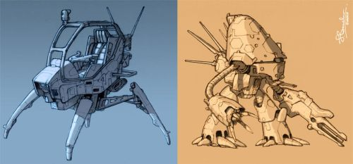 Mech concepts by JerryBoucher