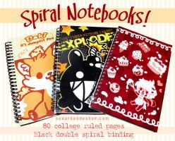 Spiral Notebooks by celesse