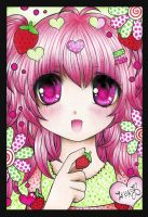 ArtTrade .: Tiny-Strawberry :. by zenab-tareef