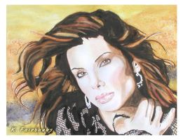Sandra Bullock (watercolor painting) by kfairbanks