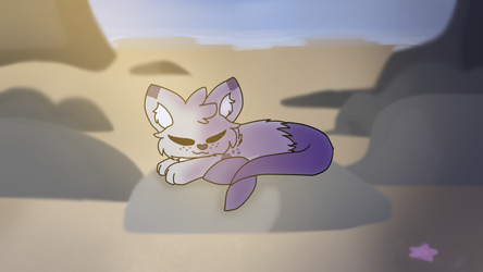 Sunbathing by MinoesTheKitty