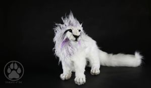 SOLD Purple white lion commission artdoll! by CreaturesofNat