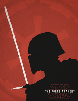 Star Wars Episode VII - Kylo Ren Vector Poster by RyanRitterbusch