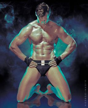 Smokin' Black Jockstrap by Kedori