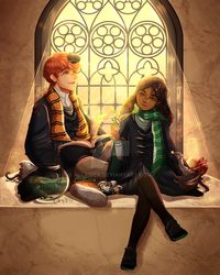 Newt and Leta by allarica