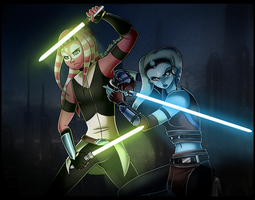 SW: Padawans who kick butt by Estrella-Angel