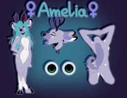 [COMMISSION] Reference Sheet: Amelia by xShellekx