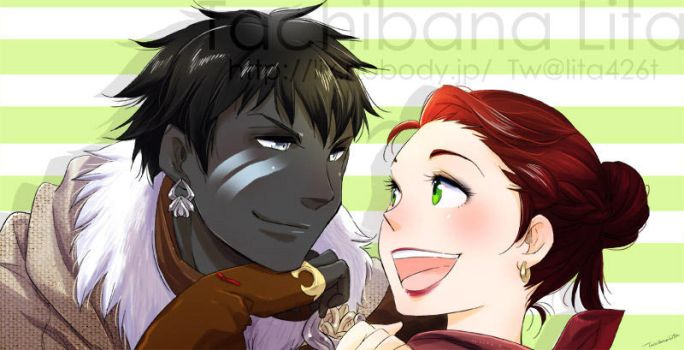 Couple Roegadyn and Hyuran for Justgetitoverwith by lita426t