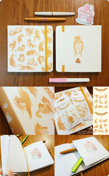 [Square Notebook] Shiba by Aka-Shiro