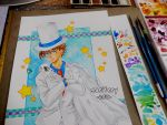 :: Kaitou Kid :: Commission WIP by maritery-san