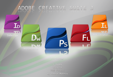 Adobe CS3 Dock Icons by Victomized