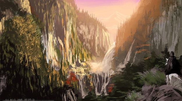 Lord Of The Rings Painting Study by ejdc