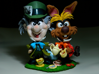 Big Nose Mad Hatter and March Hare by maga-01