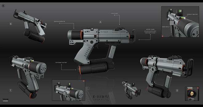 K-tech 42 laser pistol by KaranaK